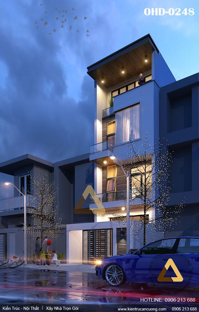 Đơn vị thiết kế nhà phố 75m2 chuyên nghiệp