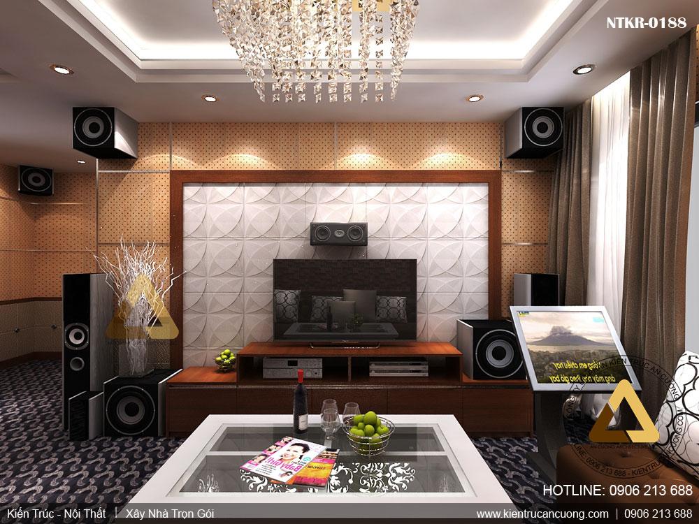 Thiết kế phòng karaoke đơn giản cho gia đình