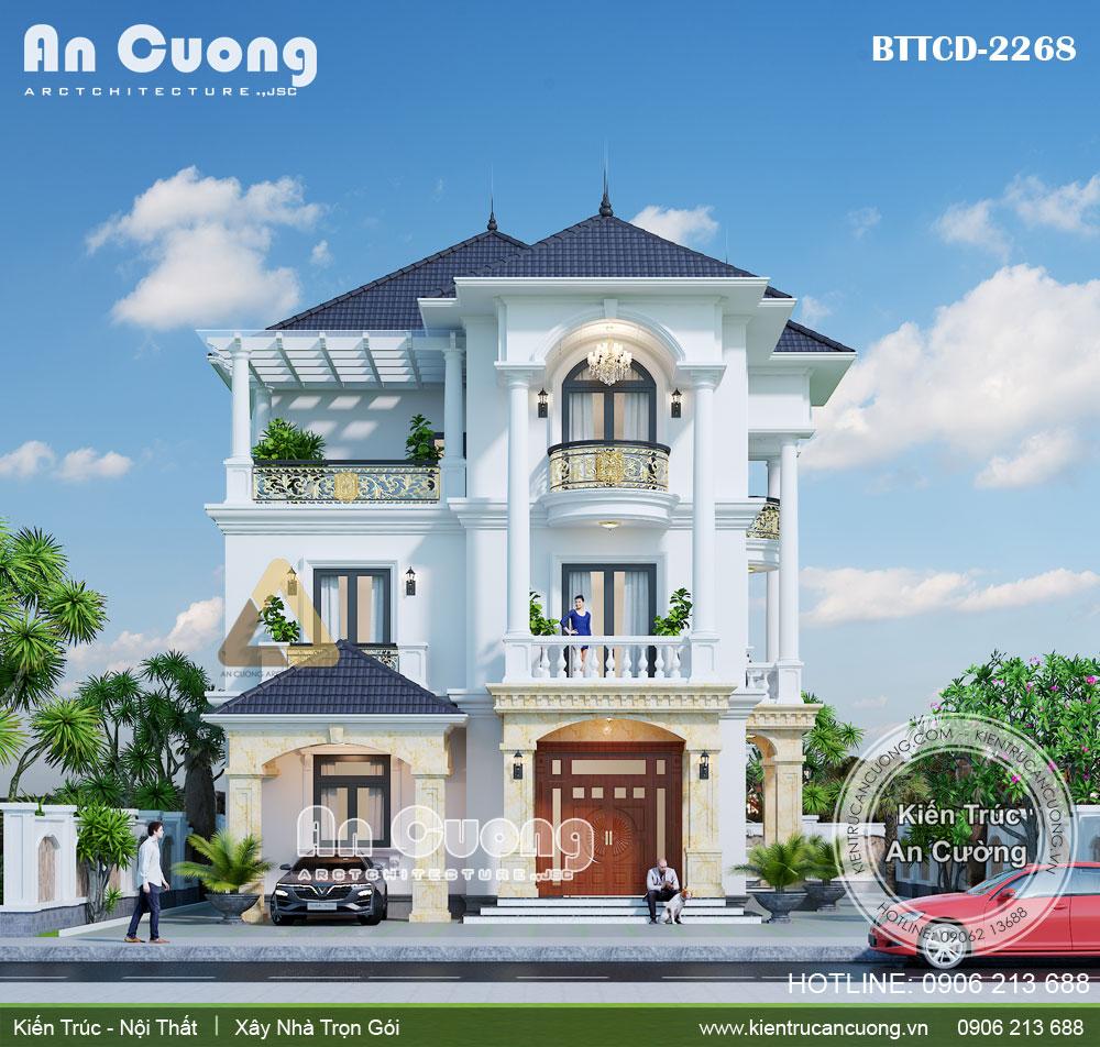 Mẫu thiết kế biệt thự xây 3 tầng đẹp