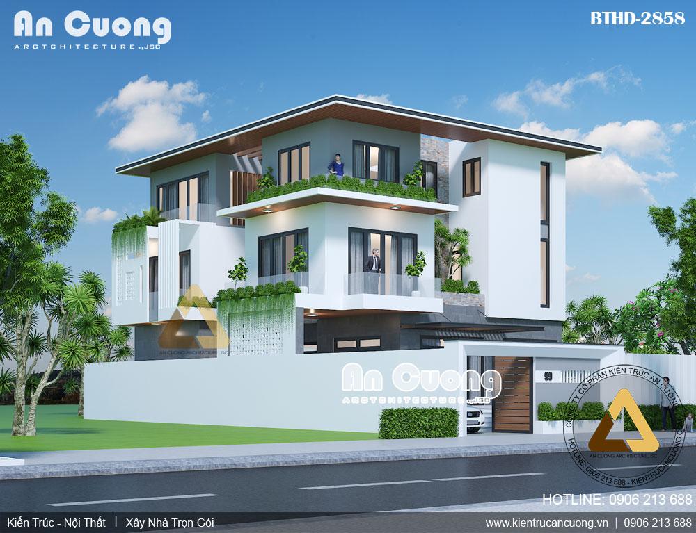 Mẫu thiết kế biệt thự tại Hà Nội theo phong cách hiện đại