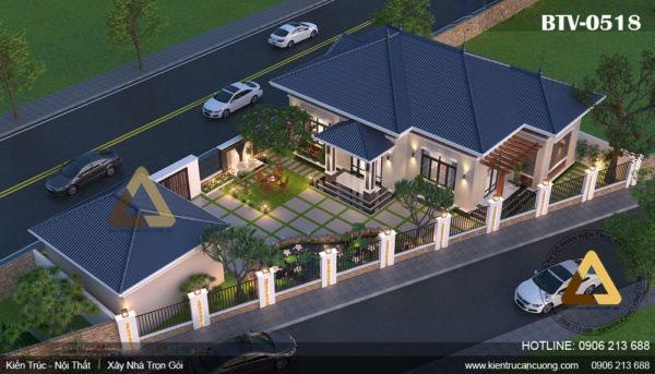 Thiết kế biệt thự vườn 1 tầng