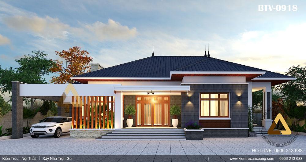 Thiết kế biệt thự hiện đại 1 tầng cần lưu ý một số tiêu chuẩn