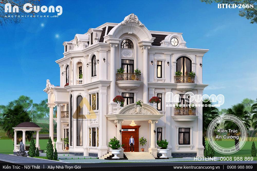 Thiết kế biệt thự tân cổ điển đẹp theo phong cách Neo Classic Châu Âu
