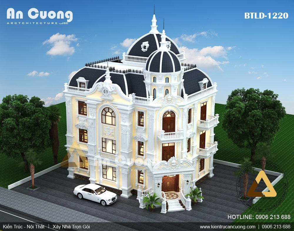 Một mẫu biệt thự phong cách cổ điển 3 tầng