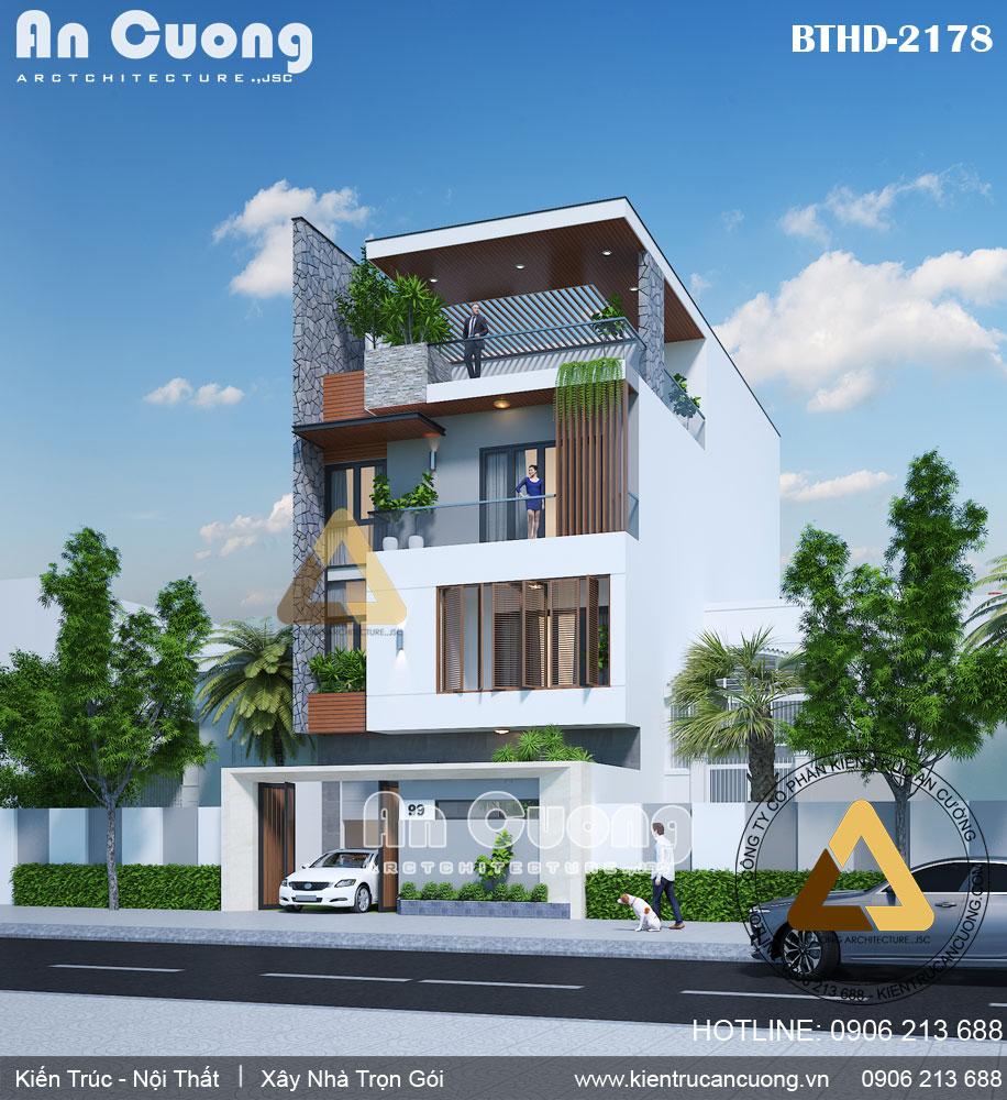 Mẫu thiết kế biệt thự hiện đại 3 tầng đẹp, tiện nghi